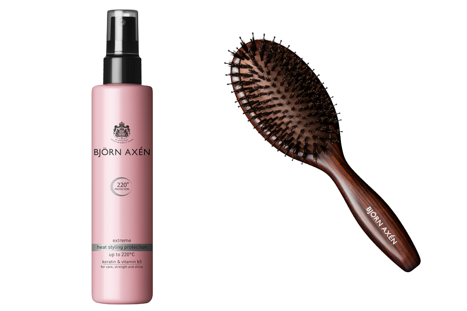 Björn Axén heat styling protection and brush