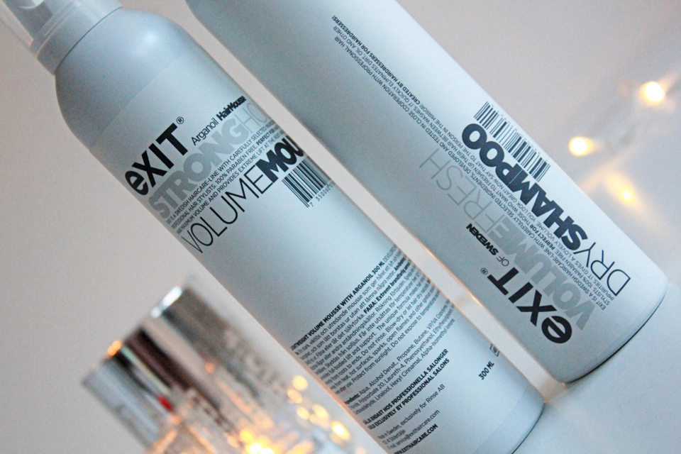Exit Haircare Dry Shampoo and Volume Mousse