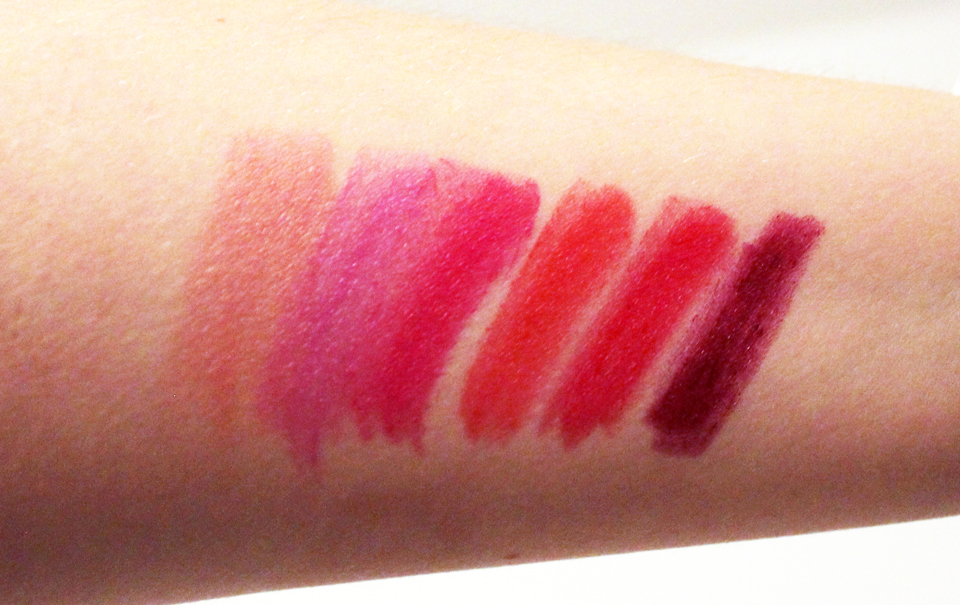 Lumene True Passion Lip Color Swatches