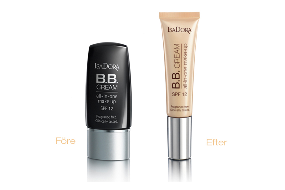Isadora BB-cream before and after