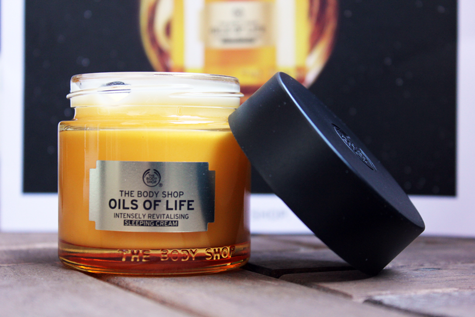 Oils of Life Sleeping Cream open