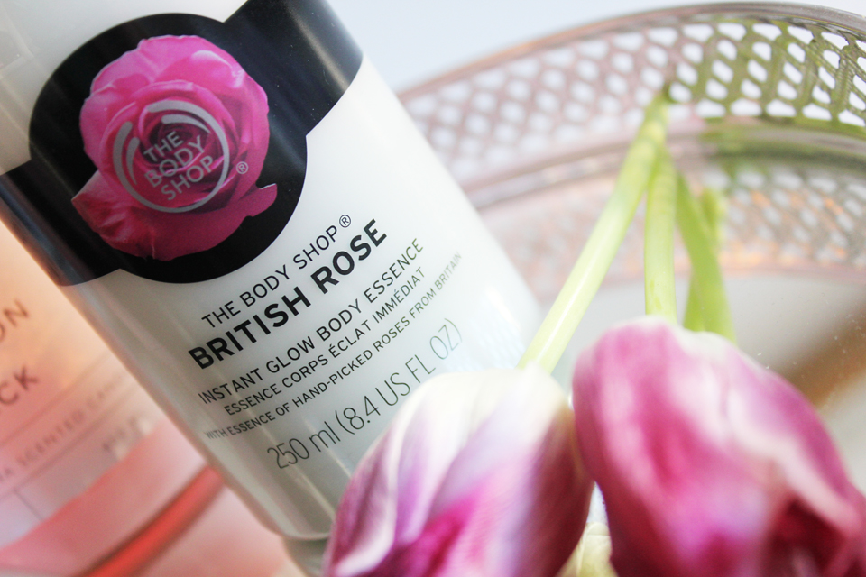 The Body Shop British Rose Instant Glow Body Essence