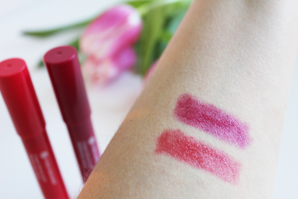 Yves Rocher Radiant Lip Crayon Swatches