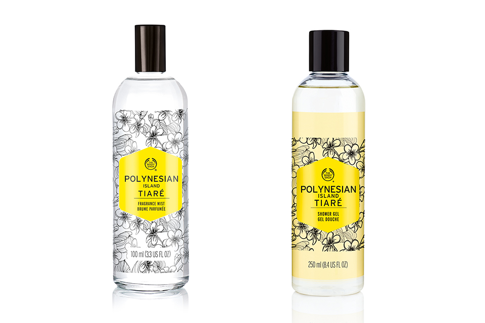 The Body Shop Polynesian Island Tiare Shower Gel & Fragrance Mist