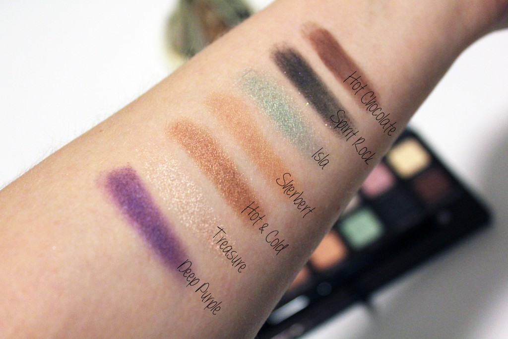 Anastasia Self-Made Palette Swatches Bottom row