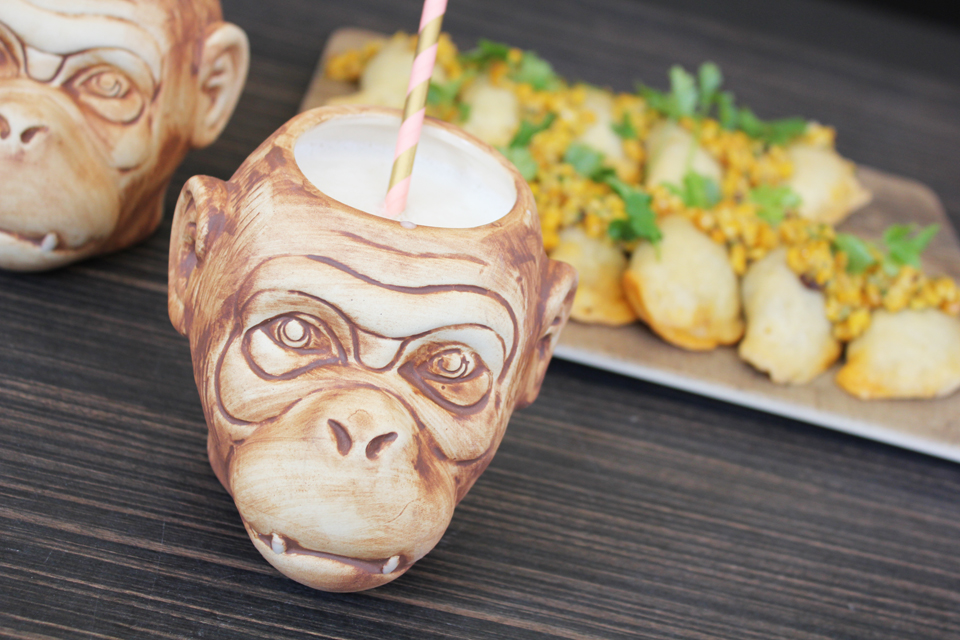 Drink in a monkey cup