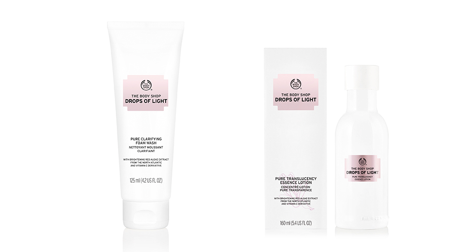 The Body Shop Drops of Light Pure Foam Wash & Essence Lotion