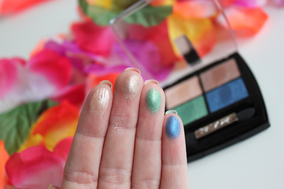 IsaDora Tropical Paradise Eye Shadow Quartet Swatches