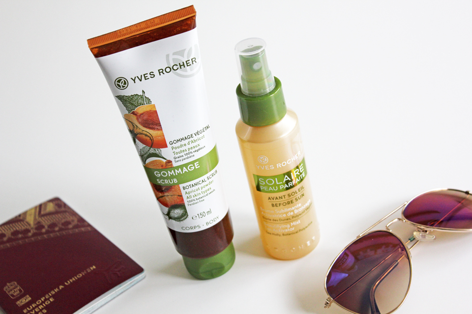 Yves Rocher Botanical Scrub and Before Sun