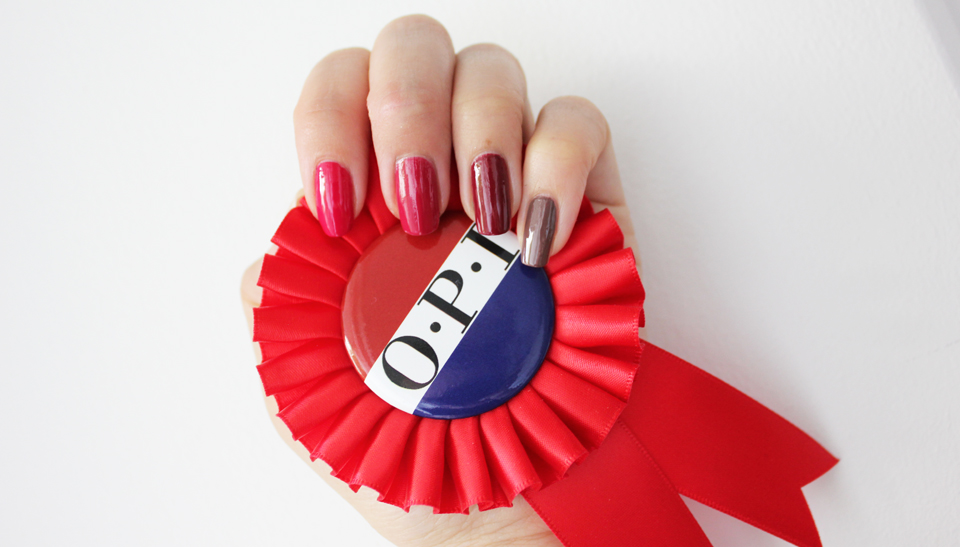 OPI Washington DC red swatches