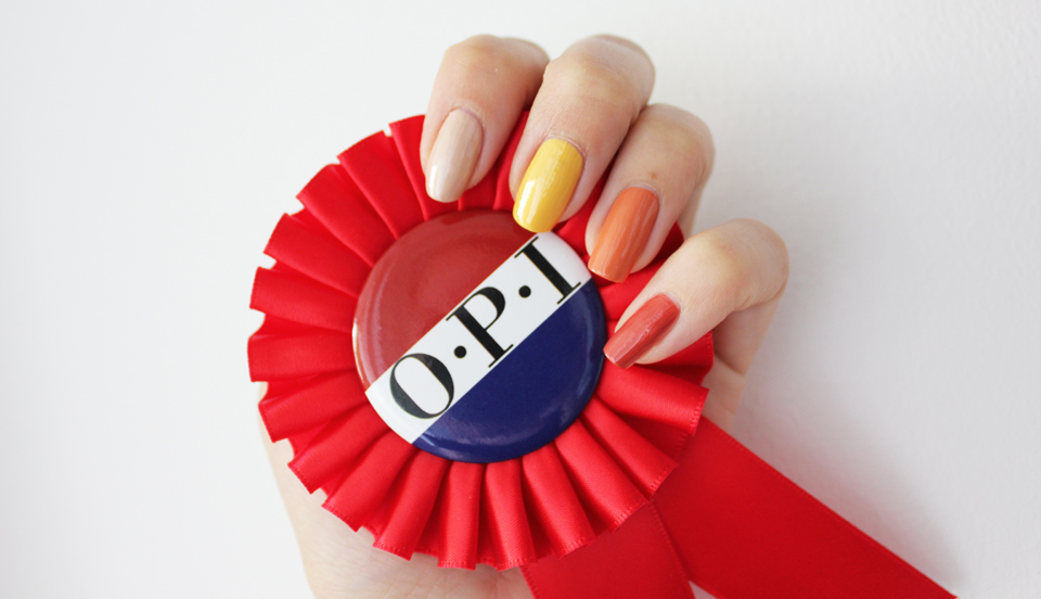 OPI Washington DC yellow-orange swatches