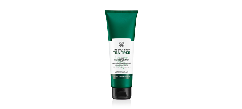 The Body Shop Tea Trea 3-in-1 Wash Scrub Mask