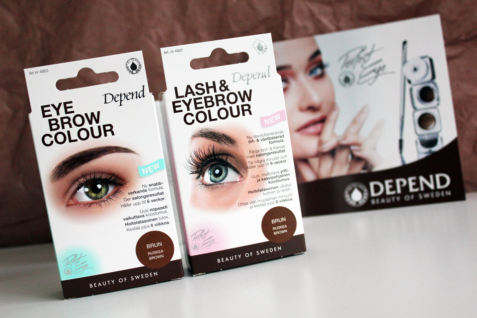 depend lash eyebrow colour