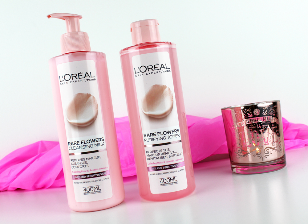 L´Oreal Rare Flowers Cleansing Milk and Purifying Toner