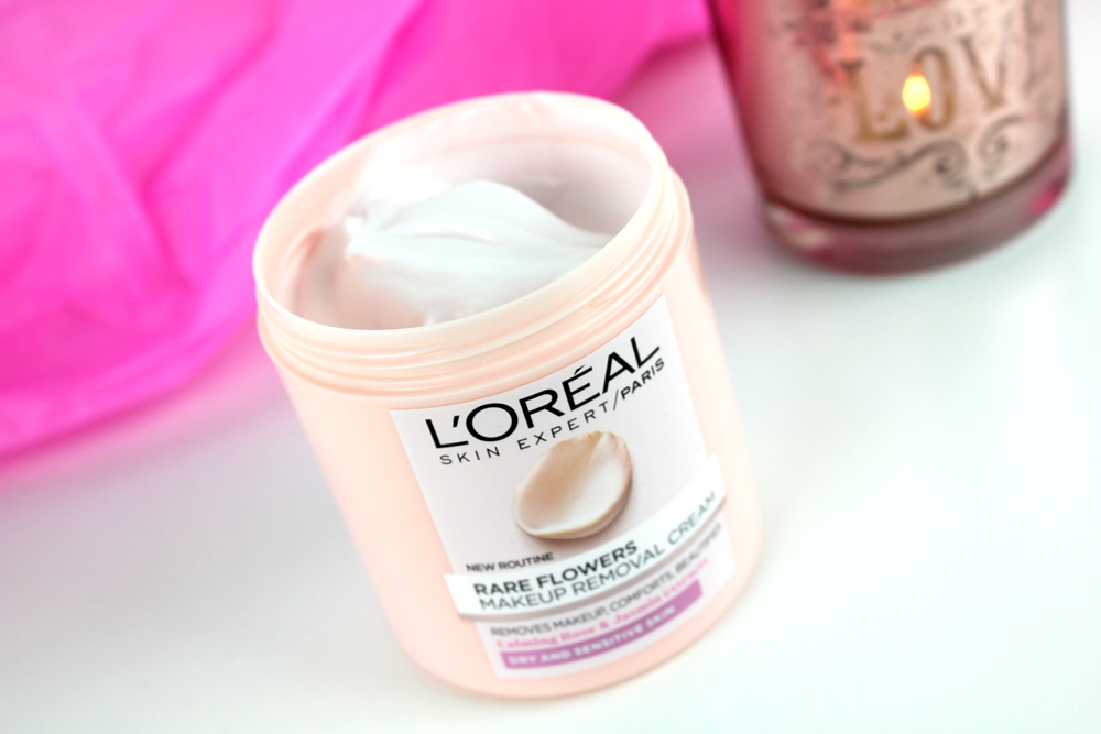 L´Oreal Rare Flowers Makeup Removal Cream Open