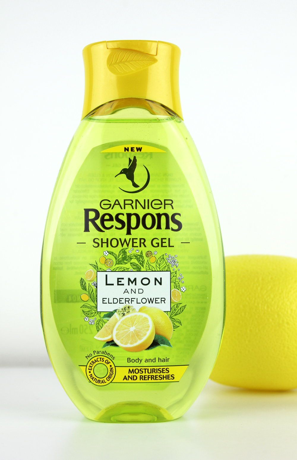 Garnier Respons Shower Gel Lemon and Elderflower