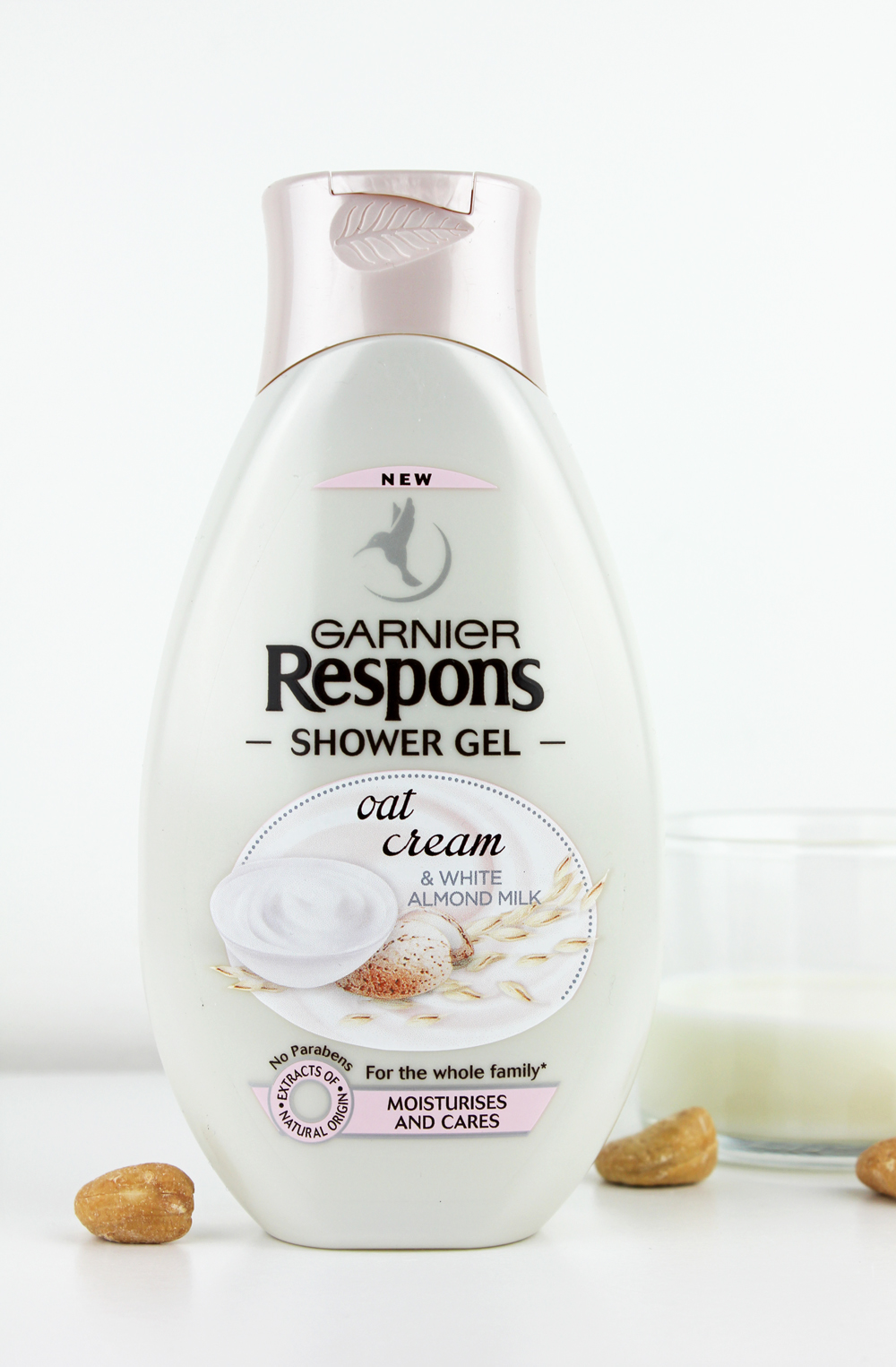 Garnier Respons Shower Gel Oat Cream & White Almond Milk
