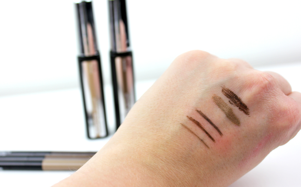 Maybelline Master Precise Micro Pencil and Brow Precise Filler swatches