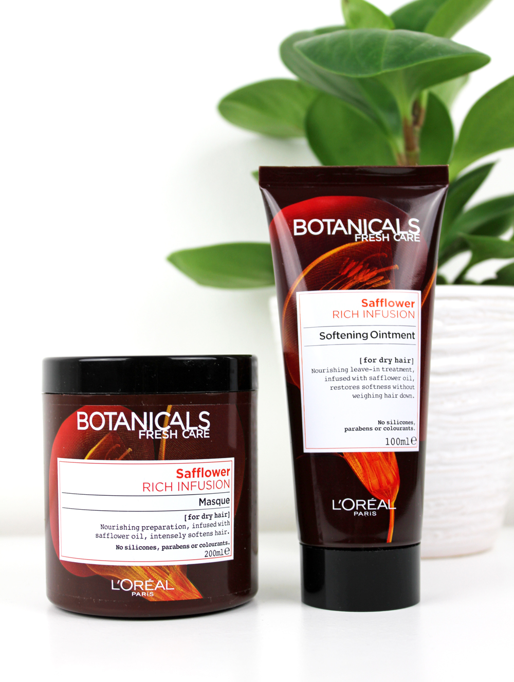 L´Oreal Botanicals Rich Infusion Masque and Softening Ointment