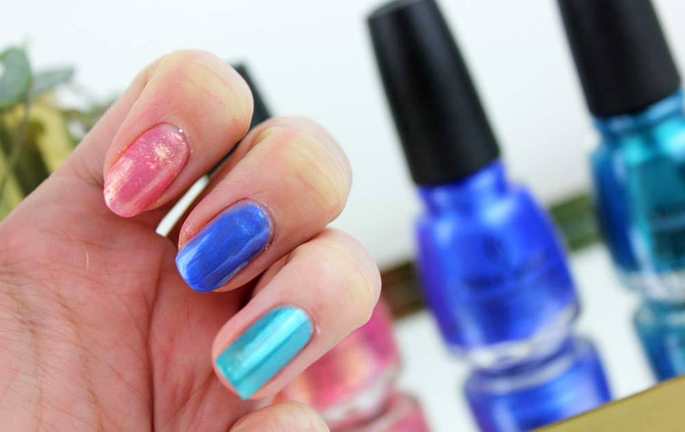 China Glaze Spring Fling Blues Swatches