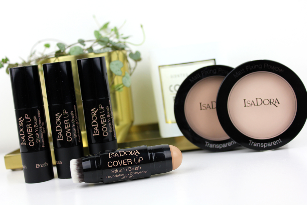 IsaDora Cover Up Stick N Brush Foundation and Concealer and Matt Fixing Blotting Powder