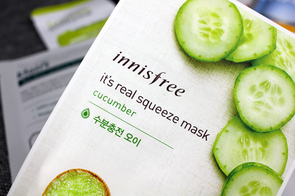 Innisfree it´s real squeeze mask cucumber
