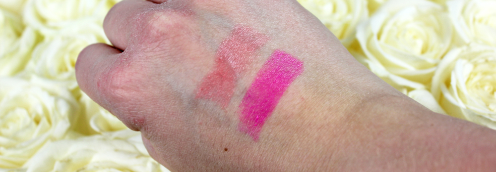 Lumene Nordic Seduction Lipshine Swatches