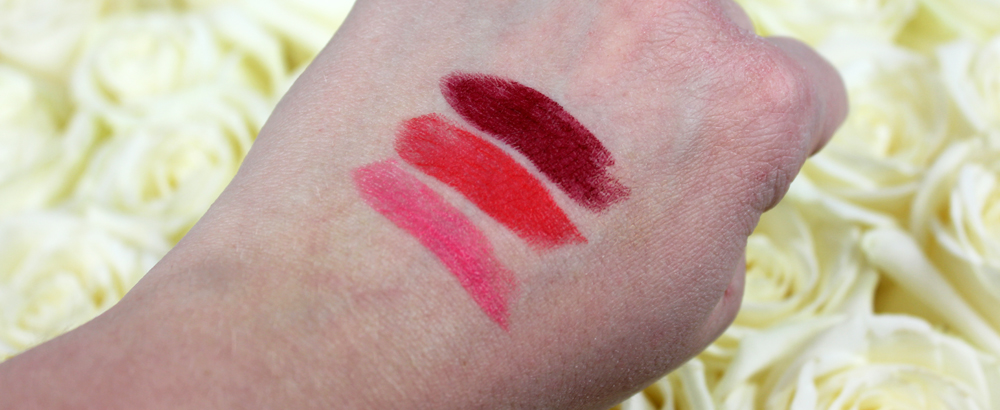 Lumene Nordic Seduction Lipstick Swatches