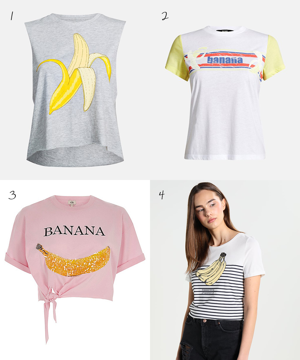 Tops with bananas