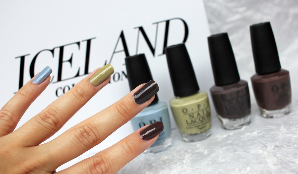 OPI Iceland Brown Swatches