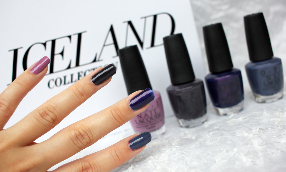 OPI Iceland Purple Swatches